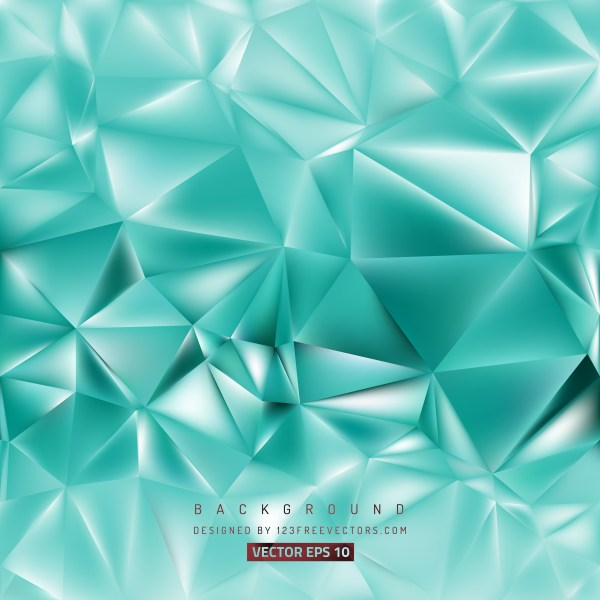 Free Turquoise Low Poly Background Illustration