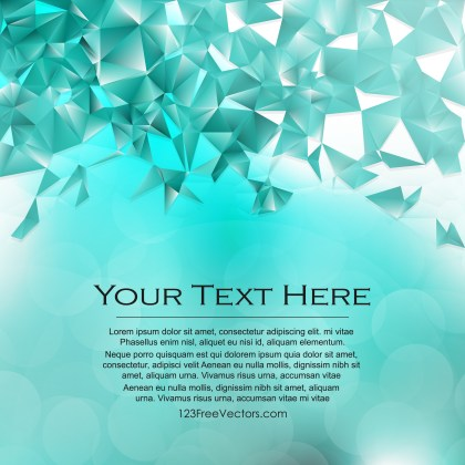 Free Turquoise Low Poly Background Template Design