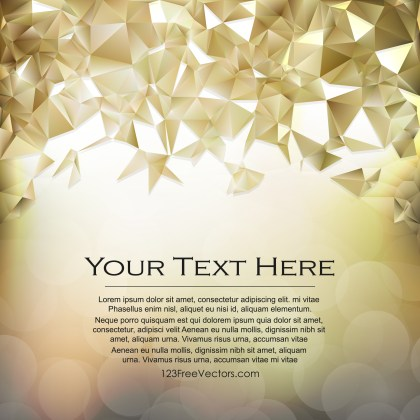 Free Beige Polygonal Background Image