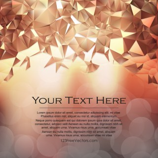 Free Brown Polygon Triangle Background Vector Image