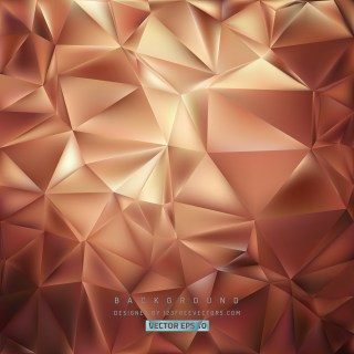 Free Brown Polygonal Triangular Background Vector Illustration
