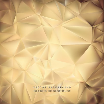 Free Brown Geometric Polygon Background Vector