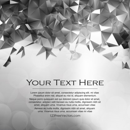 Free Abstract Grey Low Poly Background Template Image