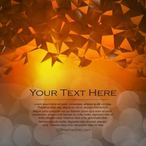 Free Abstract Dark Orange Polygonal Background Template Vector Image