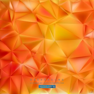 Free Abstract Orange Polygonal Triangle Background Vector Illustration