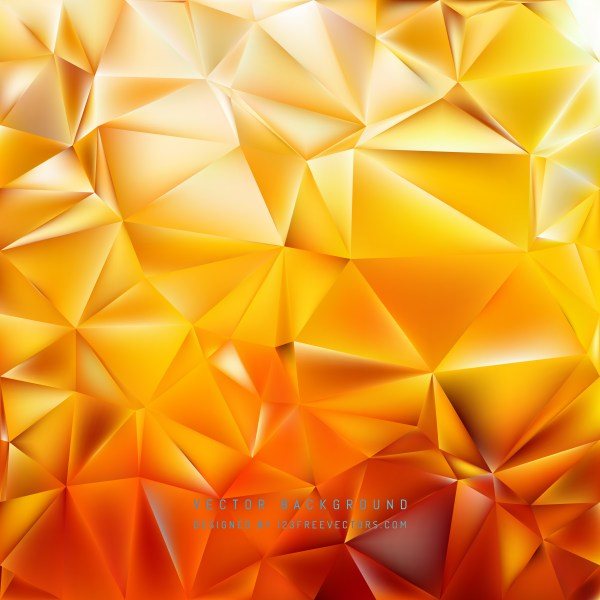 Free Orange Polygon Background Graphic