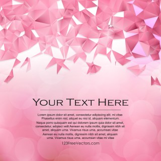 Free Pink Polygon Pattern Background Illustration