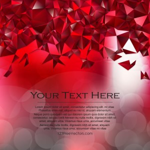 Free Dark Red Polygonal Background Vector Image