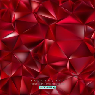 Free Dark Red Polygonal Background Template Illustrator