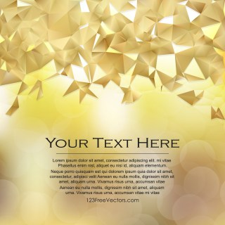 Free Gold Polygonal Triangle Background Vector