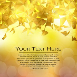 Free Gold Polygonal Triangular Background Vector Art