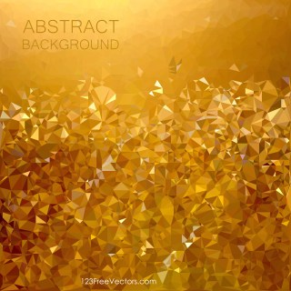 Free Abstract Gold Low Poly Background Vector Graphic