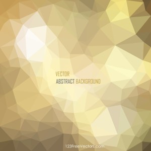 Free Abstract Gold Low Poly Background Template Vector Image