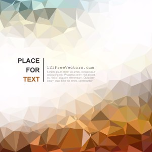 Free Abstract Light Color Polygon Triangle Background Vector