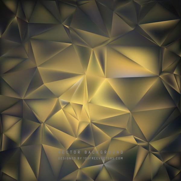Free Abstract Black and Gold Polygonal Triangle Background Vector Art