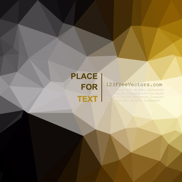 Free Abstract Black and Gold Polygonal Triangular Background Graphic