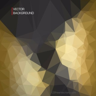 Free Abstract Black and Gold Geometric Polygon Background Illustration