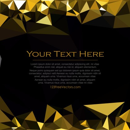 Free Cool Gold Polygon Pattern Background Image