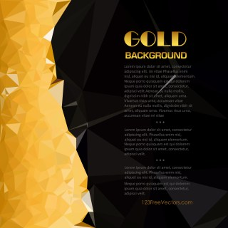 Free Cool Gold Polygon Background Template Vector Graphic