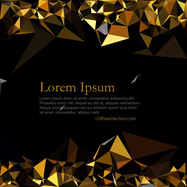Free Cool Gold Low Poly Background Vector Image