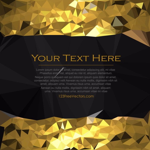 Free Cool Gold Low Poly Background Template Illustrator