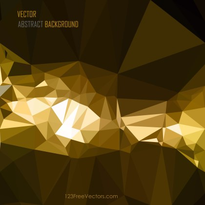 Free Cool Gold Polygonal Background Vector Illustration