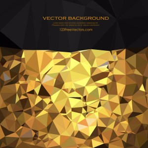 Free Cool Gold Polygon Triangle Background Vector Art