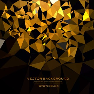 Free Cool Gold Polygonal Triangle Background Graphic