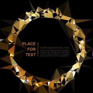Free Cool Gold Geometric Polygon Background Design