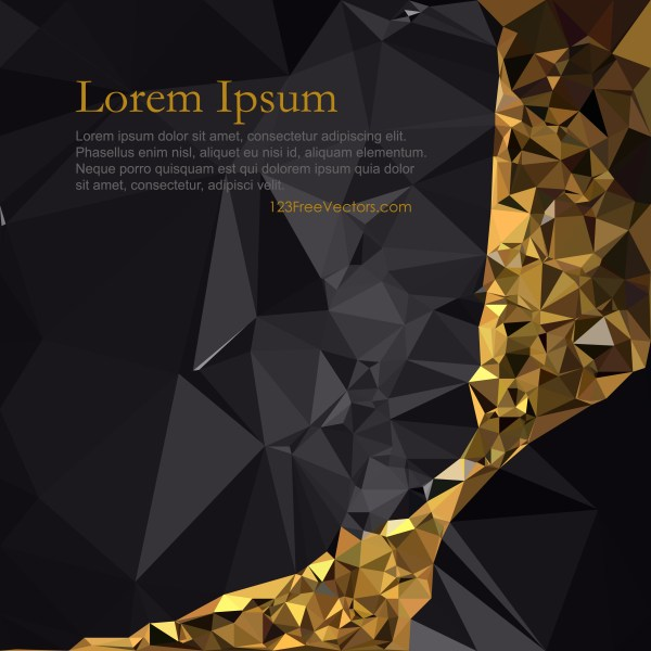 Free Abstract Cool Gold Polygon Background Image