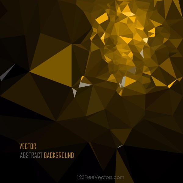 Free Abstract Cool Gold Polygon Pattern Background Vector Graphic