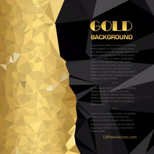 Free Abstract Cool Gold Polygon Background Template Vector Image