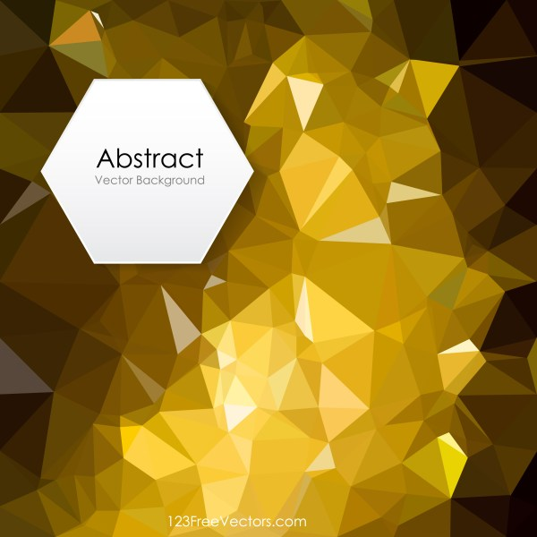 Free Abstract Cool Gold Low Poly Background Illustrator