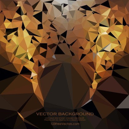 Free Abstract Cool Gold Polygonal Background Vector