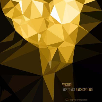 Free Abstract Cool Gold Polygonal Background Template Vector Art