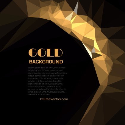 Free Abstract Cool Gold Polygon Triangle Background Graphic