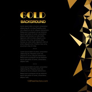 Free Abstract Cool Gold Geometric Polygon Background Image