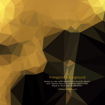 Free Cool Gold Polygon Background Template Illustrator