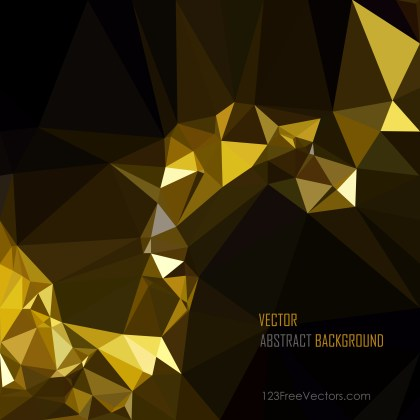 Free Cool Gold Low Poly Background Vector Illustration