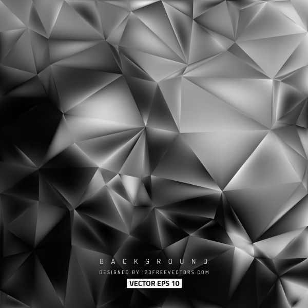 Free Cool Grey Low Poly Background Template Vector
