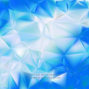 Free Blue and White Polygon Triangle Background Illustration