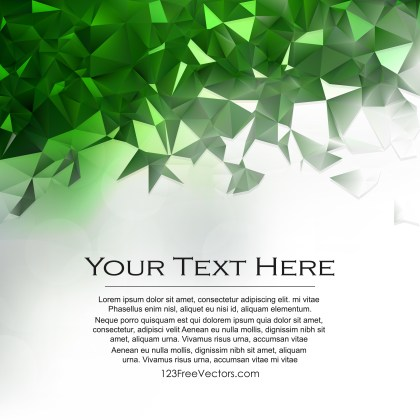Free Green and White Polygonal Triangular Background Image