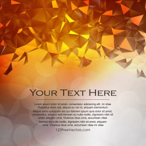Free Orange and White Geometric Polygon Background Vector Graphic