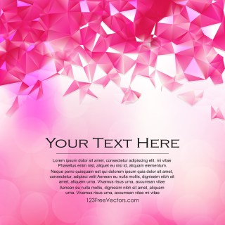 Free Abstract Pink and White Polygon Background Template Vector