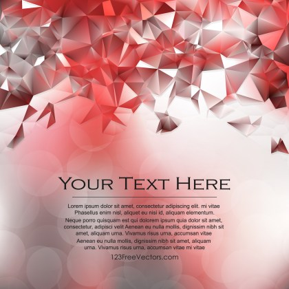 Free Abstract Red and White Low Poly Background Template Vector Art