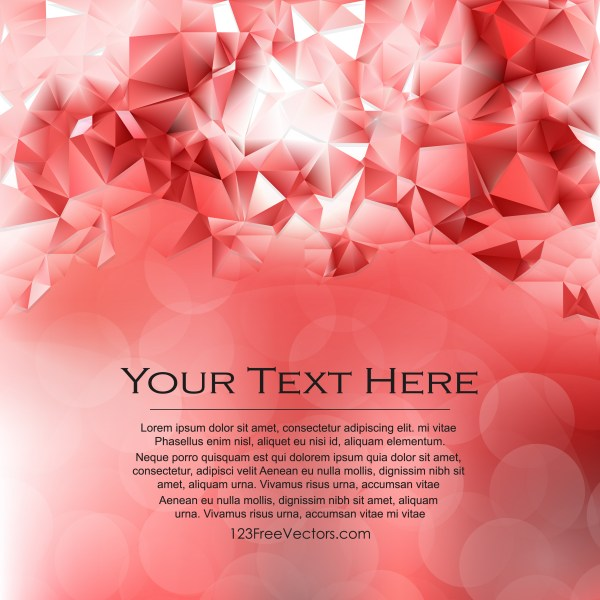 Free Abstract Red and White Polygonal Background Graphic