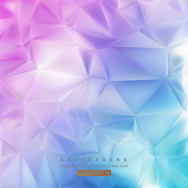 Free Abstract Blue and Purple Polygonal Triangular Background Graphic
