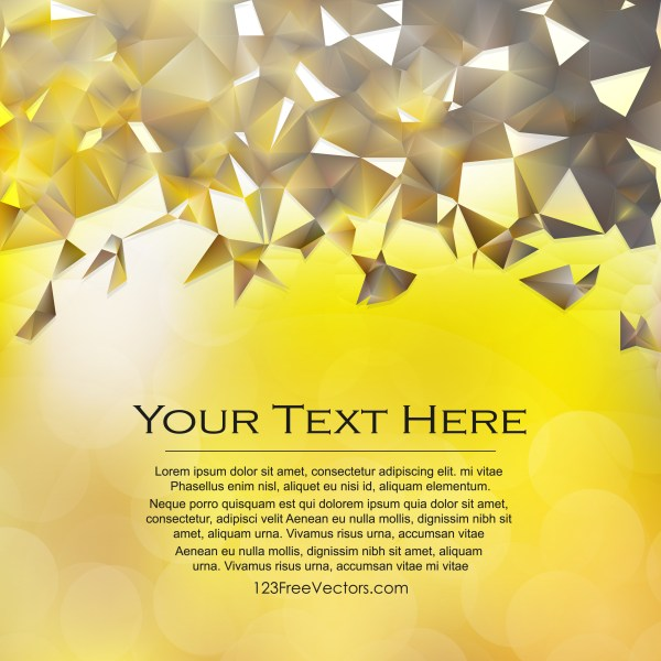 Free Abstract Brown and Gold Geometric Polygon Background Vector