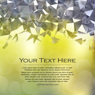Free Green and Grey Polygon Background Illustrator