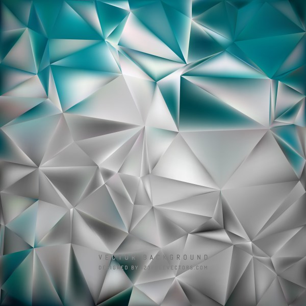 Free Grey and Turquoise Polygon Background Template Vector